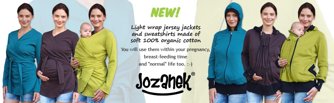 maternity and babywearing organic cotton sweatshirts