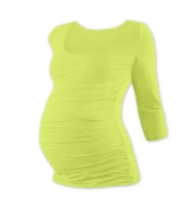 JOHANKA- maternity T-shirt, 3/4 sleeve, LIGHT GREEN L/XL