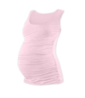 JOHANKA- T-shirt for pregnant women, no sleeves, LIGHT PINK XXL/XXXL