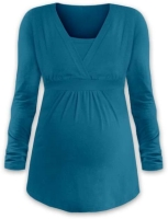 ANICKA- maternity and breast-feeding tunic, DARK TURQUOISE
