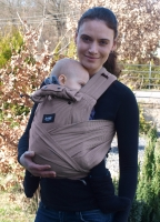 ANETA- ergonomic growing baby carrier with binding shoulder straps BC02, brown