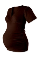 ZUZANA- maternity binding tunic, CHOCOLATE BROWN