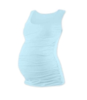 JOHANKA- T-shirt for pregnant women, no sleeves, LIGHT BLUE XXL/XXXL