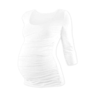 JOHANKA- maternity T-shirt, 3/4 sleeve, WHITE L/XL