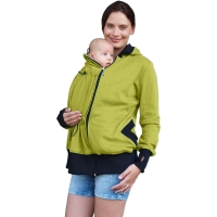 BEATA- organic cotton maternity and babywearing sweatshirt (front use only), LIME