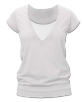 KARLA- breast-feeding T-shirt, short sleeves, CREAMY