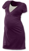 LUCIE- maternity and breast-feeding nightdress, PLUM VIOLET