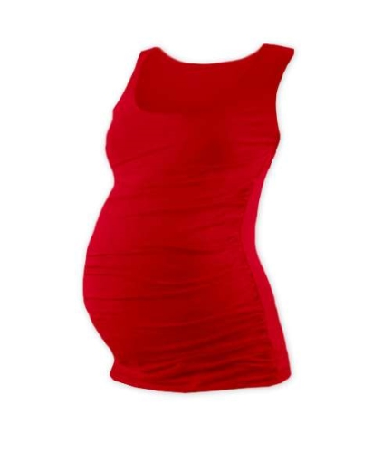 JOHANKA- T-shirt for pregnant women, no sleeves, RED