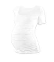 JOHANKA- T-shirt for pregnant women, short sleeves, WHITE