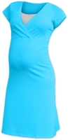 Maternity and breast-feeding nightdress Eva, turquoise