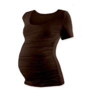 JOHANKA- maternity T-shirt, short sleeve, CHOCOLATE BROWN