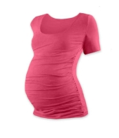 JOHANKA- T-shirt for pregnant women, short sleeves, SALMON PINK S/M