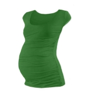 JOHANKA- T-shirt for pregnant women, mini sleeves, DARK GREEN