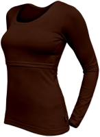 KATERINA- breast-feeding T-shirt, long sleeves, CHOCOLATE BROWN