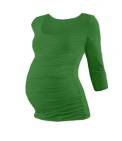 JOHANKA- maternity T-shirt, 3/4 sleeve, DARK GREEN XXL/XXXL