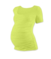 JOHANKA- T-shirt for pregnant women, short sleeves, LIGHT GREEN