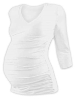 VANDA- maternity T-shirt, 3/4 sleeves, ECRU