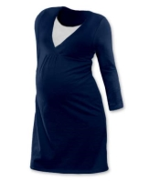 LUCIE- maternity and breast-feeding nightdress, JEANS