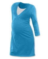 LUCIE- maternity and breast-feeding nightdress, TURQUOISE