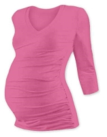 VANDA- maternity T-shirt, 3/4 sleeves, PINK