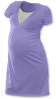 LUCIE- maternity and breast-feeding nightdress, LILAC