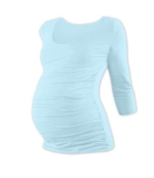 JOHANKA- maternity T-shirt, 3/4 sleeve, LIGHT BLUE XXL/XXXL