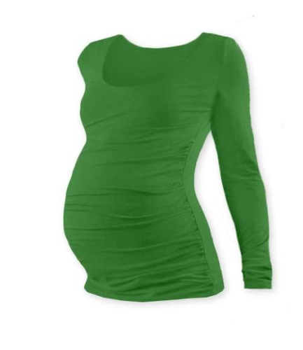 JOHANKA- maternity T-shirt, long sleeve, DARK GREEN