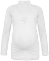 KLAUDIE- breast-feeding roll-colar T-shirt, ECRU