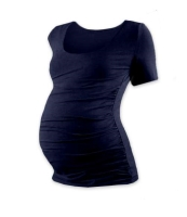 JOHANKA- T-shirt for pregnant women, short sleeves, DARK BLUE