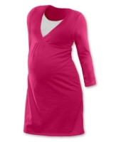 LUCIE- maternity and breast-feeding nightdress, DARK PINK