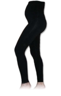 Maternity leggins, long, BLACK