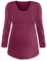 ANICKA- maternity and breast-feeding tunic, CYCLAMEN