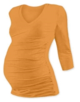 VANDA- maternity T-shirt, 3/4 sleeves, APRICOT
