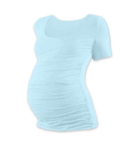 JOHANKA- T-shirt for pregnant women, short sleeves, LIGHT BLUE