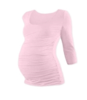 JOHANKA- maternity T-shirt, 3/4 sleeve, LIGHT PINK XXL/XXXL