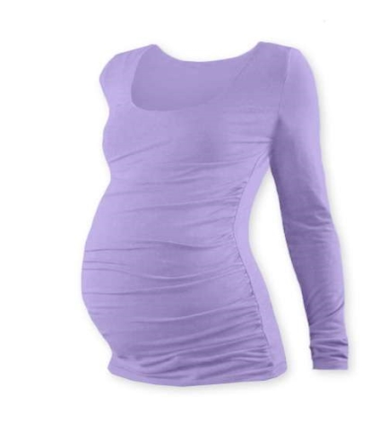 JOHANKA- maternity T-shirt, long sleeve, LAVENDER
