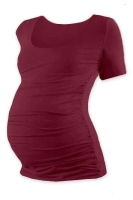 JOHANKA- T-shirt for pregnant women, short sleeves, BORDO S/M