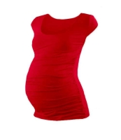 JOHANKA- T-shirt for pregnant women, mini sleeves, RED