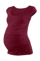 JOHANKA- T-shirt for pregnant women, mini sleeves, BORDEAUX