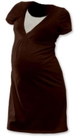 LUCIE- maternity and breast-feeding nightdress, CHOCOLATE BROWN