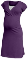 EVA- maternity and breast-feeding nightdress, plum violet