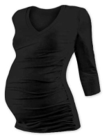 VANDA- maternity T-shirt, 3/4 sleeves, BLACK