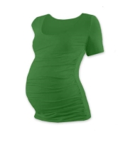 JOHANKA- T-shirt for pregnant women, short sleeves, DARK GREEN