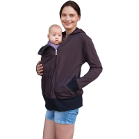BEATA- organic cotton maternity and babywearing sweatshirt (front use only), CHOCOLATE BROWN