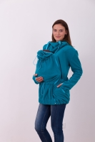 NINA- babywearing fleece hooded sweatshirt (front use only), petroleum