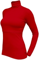 KATERINA- breast-feeding roll-colar T-shirt, RED