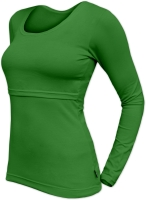 KATERINA- breast-feeding T-shirt, long sleeves, DARK GREEN
