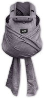 ANETA- ergonomic growing baby carrier with binding shoulder straps BC02, grey