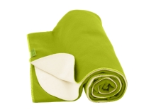 Swaddle blanket 85x110cm,lime/unbleached