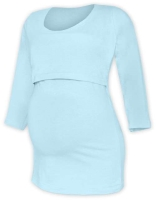 KATERINA- breast-feeding T-shirt 01, 3/4 sleeves, LIGHT BLUE